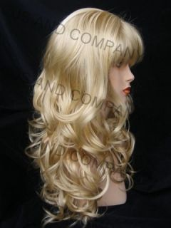 Playful Long Wavy Pale Blonde 613 Wigs Wig Jsca