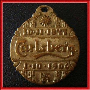 Jacobsen Carlsberg Beer Brewery / Swastika RARE 1906 Medal