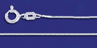 Sterling Silver Necklace Lightweight Chains 925 Italy