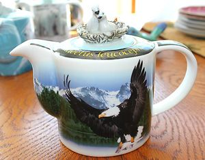 Paul Cardew Endangered Species Teapot 2 Cup Bald Eagle