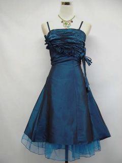 14 16 Teal Ball Evening Bridesmaid Cocktail Dress