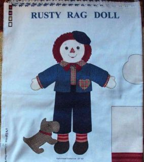 Fabric Panel Quilt Rusty 20 Raggedy Andy Rag Doll Boy His Dog Pattern