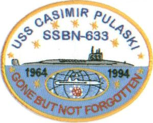 US Navy SHIP Patch USS Casimir Pulaski SSBN 633 Y