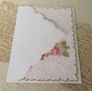 Carol Wilson Birthday Card Pretty Pink Rose Trio Sweet