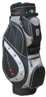 NEW WILDCARD GOLF GAMBLING Cart style golf bag Black w/ Charcoal Poker