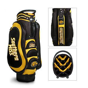 Southern Miss Golden Eagles 14 Way Golf Medalist Cart Bag Black