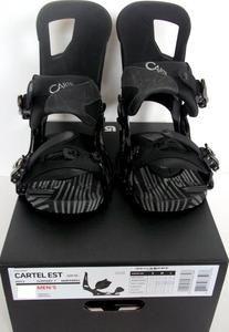 Burton Cartel Est Snowboard Bindings Asphalt Authentic Mens Sizes s M