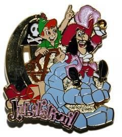 Tokyo Disneyland Jubilation Peter Pan Captain Hook Parade Pin
