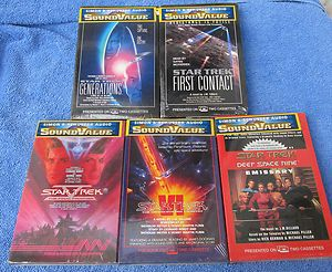 Star Trek Audio Cassettes 5 Different All SEALED New Books on Tape
