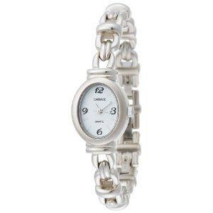 Timex Carriage Ladies Watch QA Pearl Bi Metal Silver Bracelet C3A051