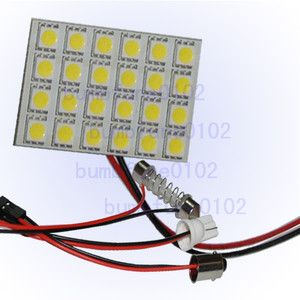 24 SMD 5050 T10 Car Interior Dome Door LED Panel Light