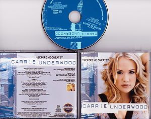 Carrie Underwood Before He Cheats 2 track promo cd single 2006