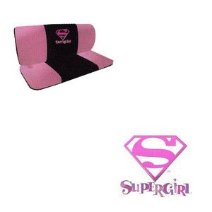 Pink Superhero Comics 1 Back Bench Row Car Seat Covers Fit