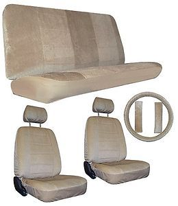 Tan Car Truck SUV Seat Covers Loaded Interior Package 3