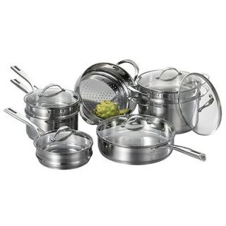 Cat Cora 12 Piece Stackable Stainless Steel Set 070655 001 0000