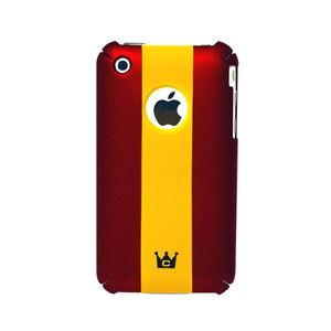 CaseCrown Stripe Case Cover for Apple iPhone 3G 3Gs Red Yellow