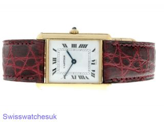 Cartier TANK18K Yellow Gold Lady Quartz Watch Shipped from London UK