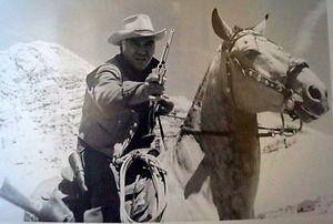 Ben Cartwright Lorne Greene Bonanza with Colt Firearms Peacemaker SAA