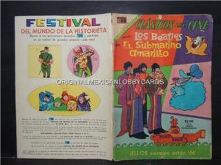 Clasicos Del Cine Xtra The Beatles Yellow Submarine Novaro Mex Comic
