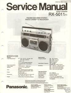 Original Service Manual Panasonic RX 5011 Radio Cass
