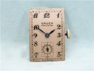 Filled Gruen Precision Fancy Case 17 Jewel GXC Mens Wristwatch