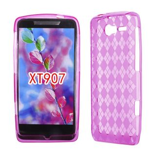 For Motorola Droid RAZR M XT907 Case Cover Ice Skin Solid Hot Pink