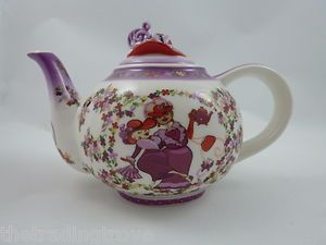 Paul Cardew signed Red Hat Society Tea Time Teapot Porcelain licensed