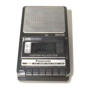 Panasonic Portable Cassette Tape Recorder Shoe Box New
