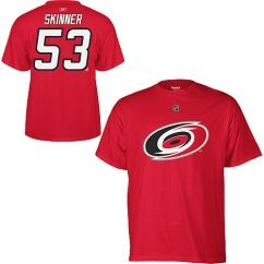 Carolina Hurricanes Jeff Skinner Red Name and Number Jersey T Shirt
