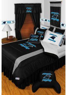 NFL Carolina Panthers Football Full Queen Comforter Set
