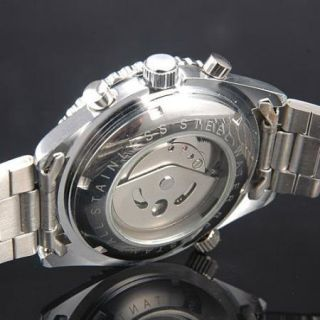 CATRONIS AUTOMATIC MECHANICAL STAINLESS STEEL MENS WRIST WATCH & GIFT