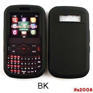 For Pantech Caper Verizon Prepaid Phone Soft Silicone Rubber Black
