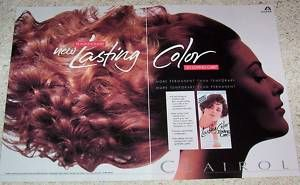 1992 Clairol Loving Care Hair Color Cute Girl Print Ad