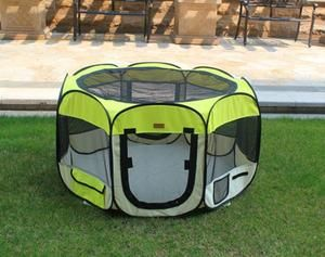 New Medium Yellow Pet Dog Cat Tent Playpen Exercise Play Pen Soft