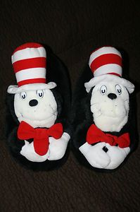 DR SEUSS Cat in the Hat House Shoes Slippers ADULT SIZE LARGE 9 10 5