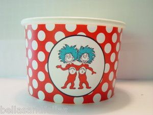 Cat in the hat thing 1 thing 2 Dr Seuss party favor treat cups party