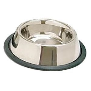 Tip NON SLIP CAT DOG WATER DISH STAINLESS STEEL Pet BOWL large 16 OZ