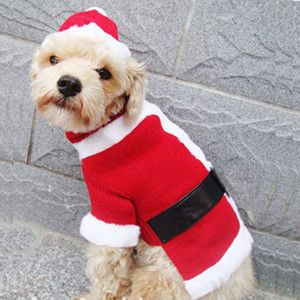 Pet Puppy Dog Cats Clothes Clothing Apparel Warm Christmas Pretty
