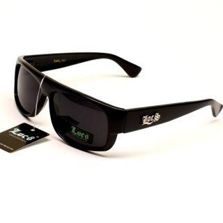 New Locs 80s Gangster Thug Sunglasses Mens Black LC49