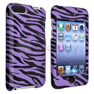 Black Zebra Hard Case Cover Accessory for iPod Touch 3rd 2nd Gen 3G 2G