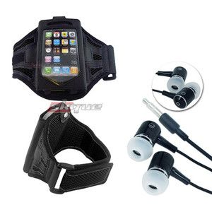 Black Running Armband Case Cover Headphone For Ipod Touch Iphone 4 4S