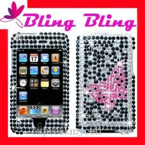 Bling Case Cover iPod Touch 2nd 3rd Diamond Butterfly