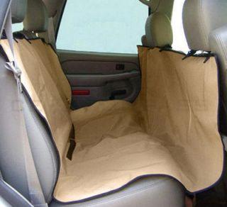 57x57 Waterproof Hammock Pet Dog Cat Car Seat Cover Kahki