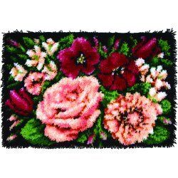 Floral DVine Caron Classic Latch Hook Kit Below Retail