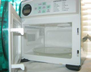 green sharp half pint carousel microwave r 120dg