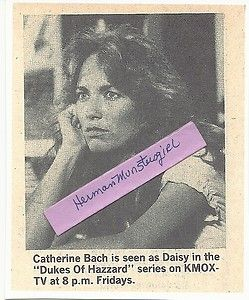Hazzard TV Guide Ad clipping Copy Catherine Bach as Daisy Duke