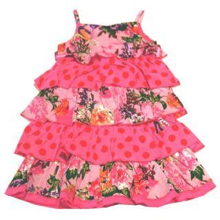 Catimini Urban Global Layered Ruffle Print Dress New 4