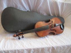 Antique Caspar Da Saloin Brescia 1595 Full Size 4 4 Violin Case Bausch
