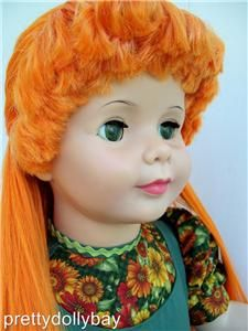 Fabulous Carrot Top Patti Playpal Ideal Silky Long Hair