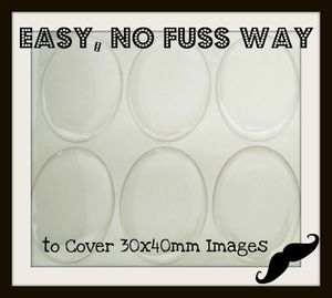 10) 30x40mm Oval Clear Epoxy Resin Stickers CAMEO Domes Covers 30mm